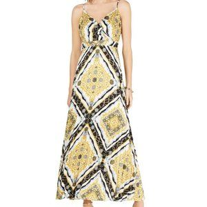 NWT INC Womens Printed Pleated Maxi Sz 12 Dress